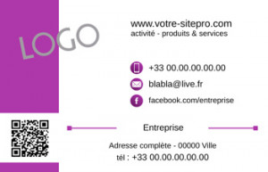 CARTE de VISITE  | 1.2 Violet |