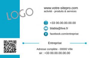 CARTE de VISITE  | 1.4 Bleu |