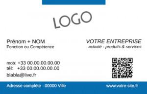 CARTE de VISITE  | 5.1 Bleu |