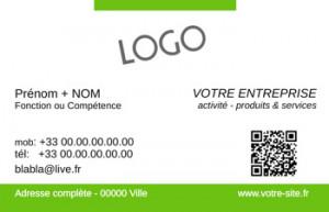 CARTE de VISITE  | 5.2 Vert |