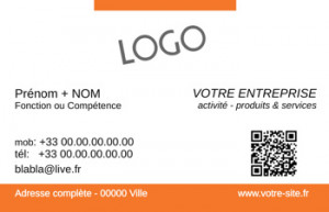 CARTE de VISITE  | 5.4 Orange |