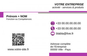 CARTE de VISITE  | 6.1 Violet |