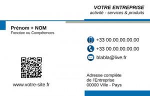 CARTE de VISITE  | 6.3 Bleu |